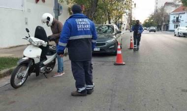 Operativos a cargo de la Dirección de Tránsito en Bahia