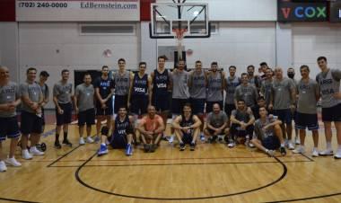 De lujo: Emanuel Ginóbili visitó a la Selección Argentina en Las Vegas