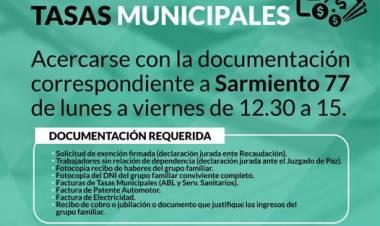 Continúa la renovación de eximición de Tasas Municipales