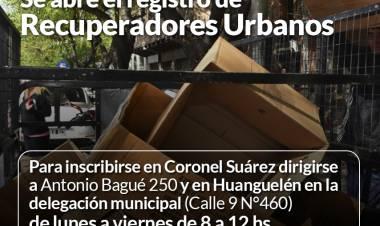 Se abre el registro de Recuperadores Urbanos del distrito⠀