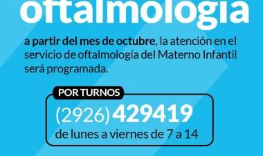 Turnos para el sector de oftalmología