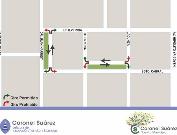 Nueva sentido de circulación en arterias de la ciudad cabecera