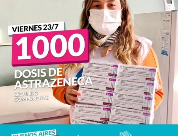 LLEGARON 1000 DOSIS DE ASTRAZENECA
